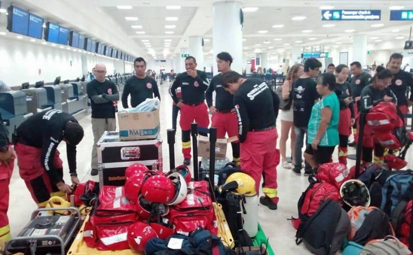 Rescatistas de Quintana Roo, de los primeros enreaccionar