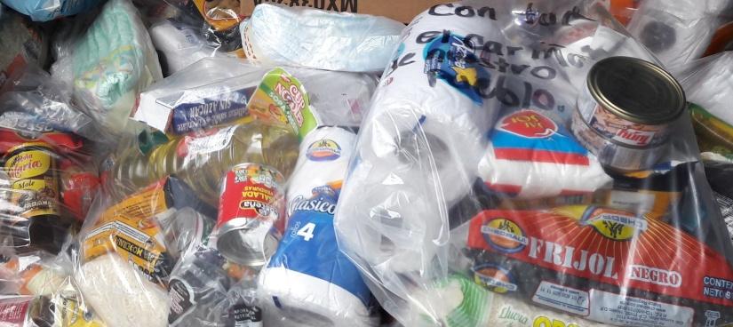 Víveres donados para damnificados por sismos en México son revendidos en el mercadonegro