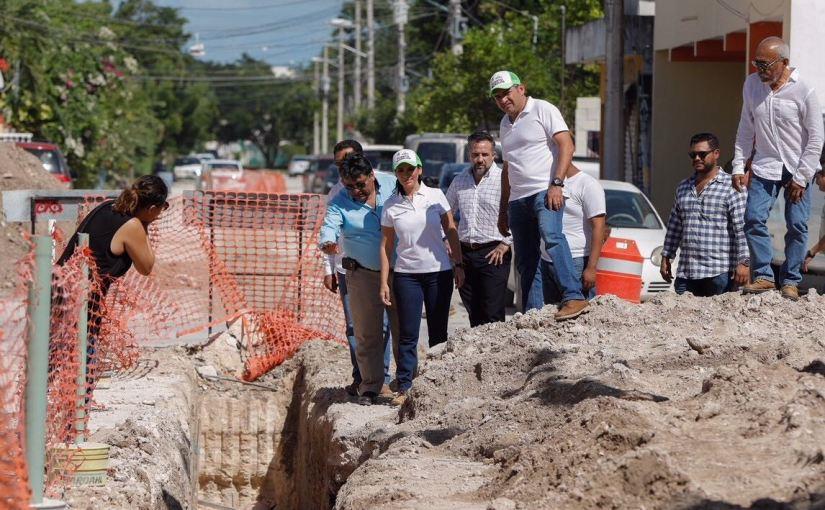 Avanzan las obras de drenaje en#PuertoMorelos
