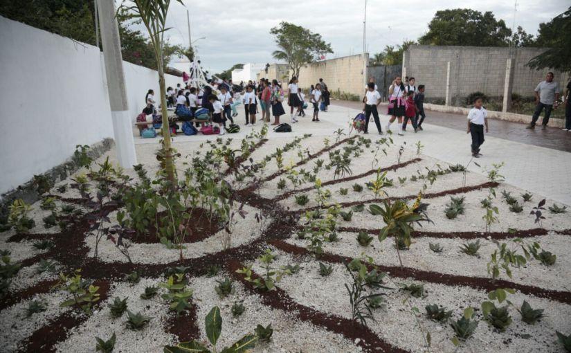 Entrega Ayuntamiento de Isla Mujeres andador en la Zona Urbana de RanchoViejo