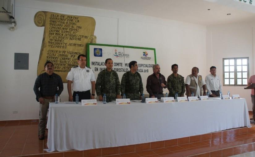 Instala Isla Mujeres Comité Especializado en IncendiosForestales