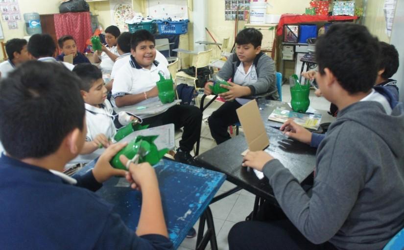 Realizan taller de reciclaje con estudiantesisleños