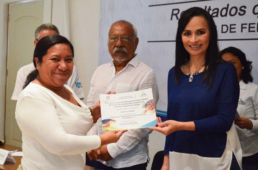 Duplica Puerto Morelos metas en programa de Protección de TortugasMarinas