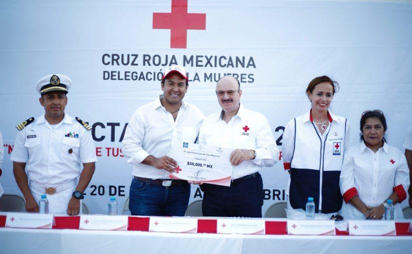 Inicia Colecta Nacional 2018 de Cruz Roja Mexicana en IslaMujeres