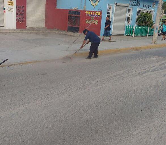 Mantiene personal de Servicios Públicos limpieza en avenidas de ZonaContinental
