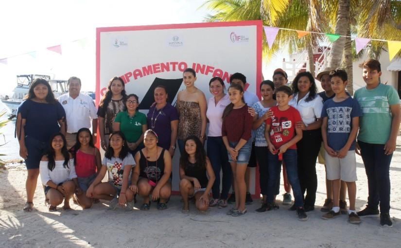 Realizan Campamento Infantil 2018 en IslaMujeres