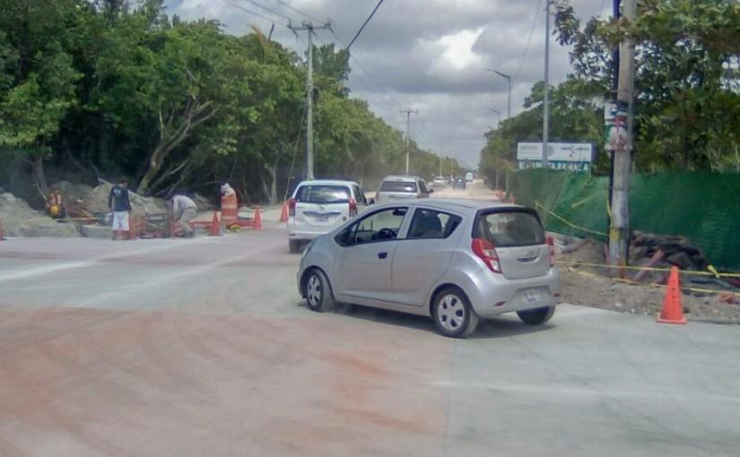 Abren a la circulación vehicular principal crucero de entrada al Casco Antiguo de PuertoMorelos
