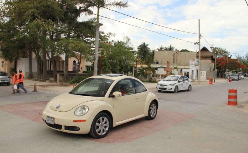Se normaliza circulación vehicular en Casco Antiguo de Pto.Morelos
