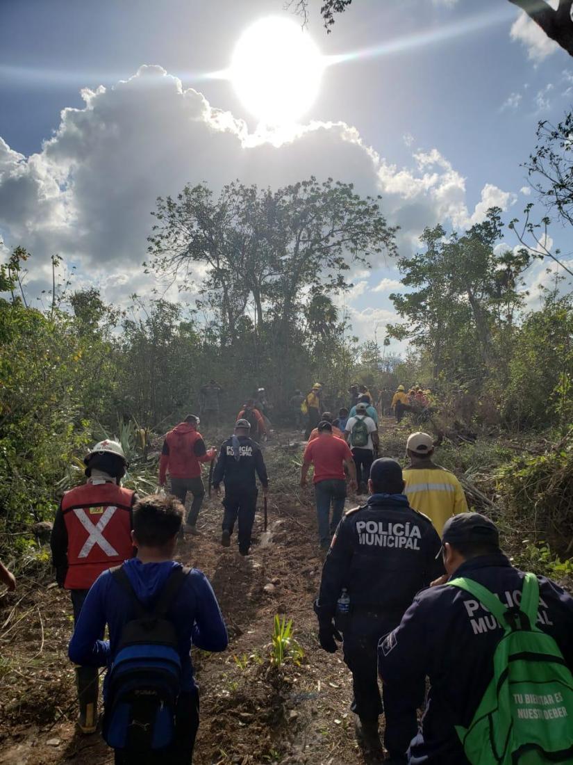 SOFOCA GOBIERNO MUNICIPAL INCENDIO FORESTAL EN FRANCISCOMAY